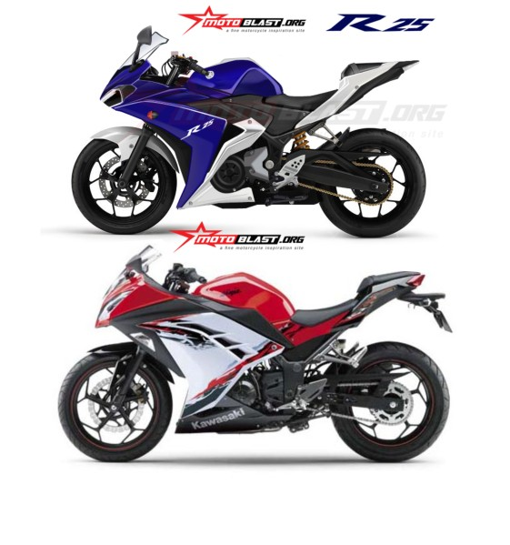 r25 vs ninja 250 lovemotobike